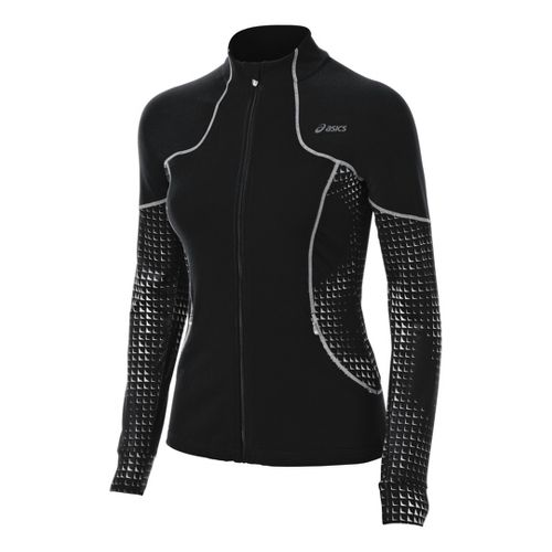 Womens ASICS Lite-Show Running Jackets - Black XL