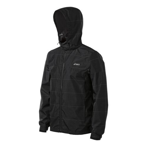 Mens ASICS Storm Shelter Running Jackets - Black M