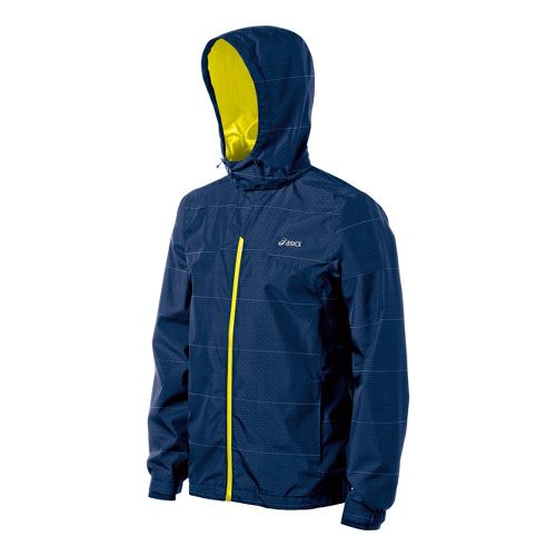 Mens ASICS Storm Shelter Running Jackets - Ink S