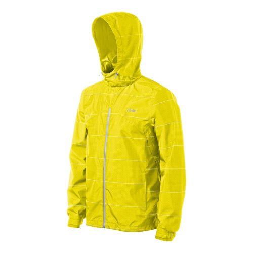 Mens ASICS Storm Shelter Running Jackets - Neon L
