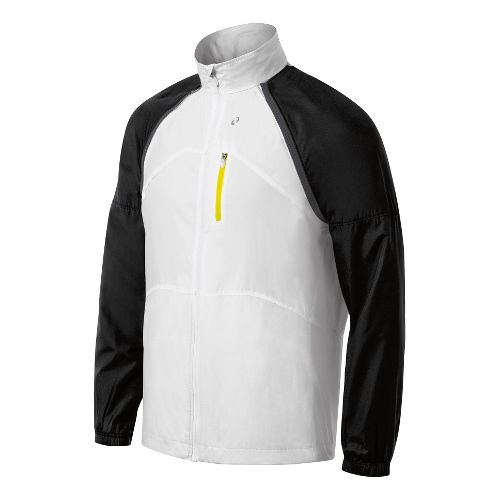 Mens ASICS 2-N-1 Running Jackets - White/Black XL