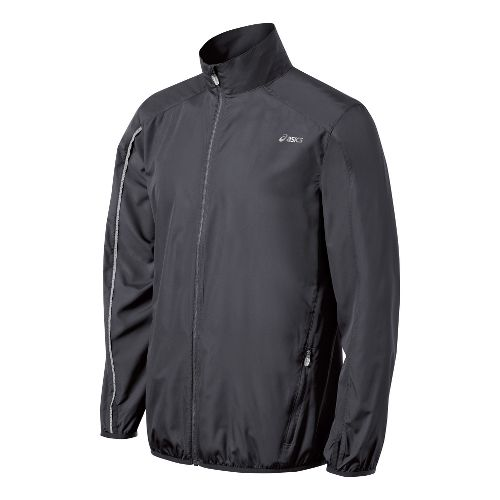 Mens ASICS Spry Running Jackets - Steel S