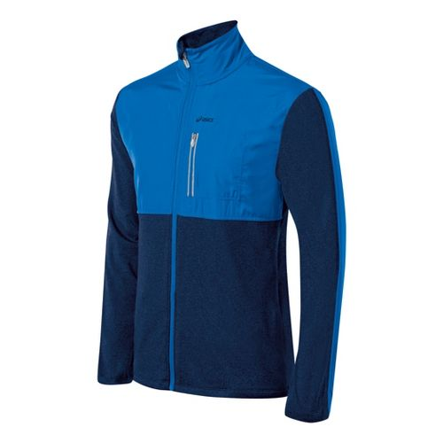 Mens ASICS Thermo Windblocker Running Jackets - Electric/Ink S