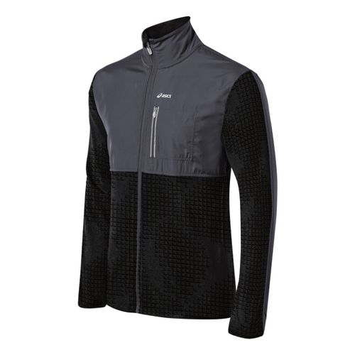 Mens ASICS Thermo Windblocker Running Jackets - Steel M