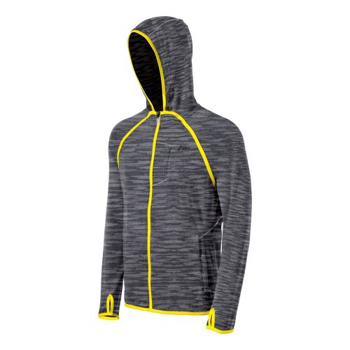Mens ASICS Thermopolis LT Hoody Running Jackets - Heather Iron M