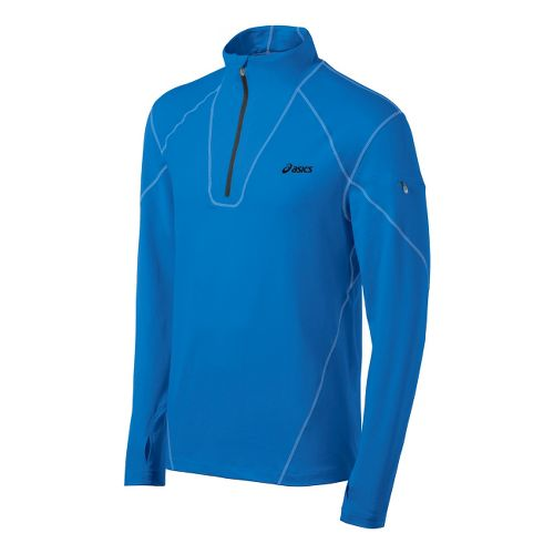 Mens ASICS Thermopolis LT Long Sleeve 1/2 Zip Technical Tops - Electric S