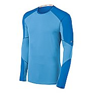 Mens ASICS Ecoline Long Sleeve No Zip Technical Tops