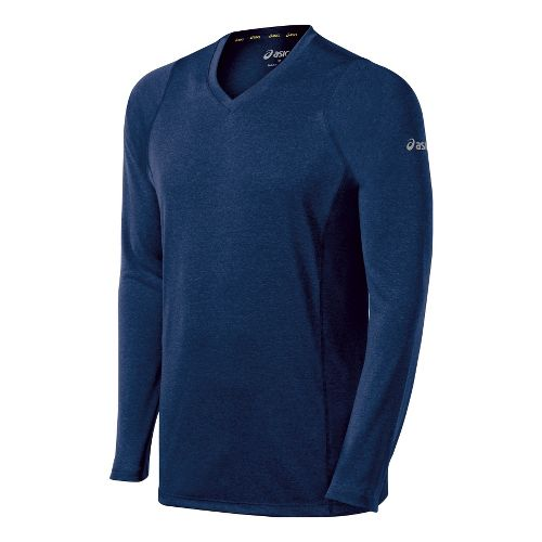 Mens ASICS Everyday II Long Sleeve No Zip Technical Tops - Ink M