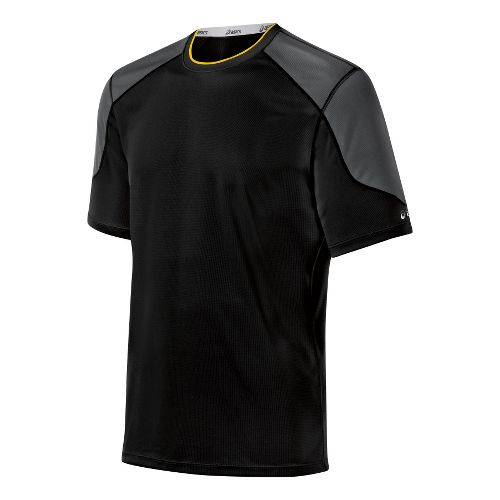 Mens ASICS Ecoline Short Sleeve Technical Tops - Black L