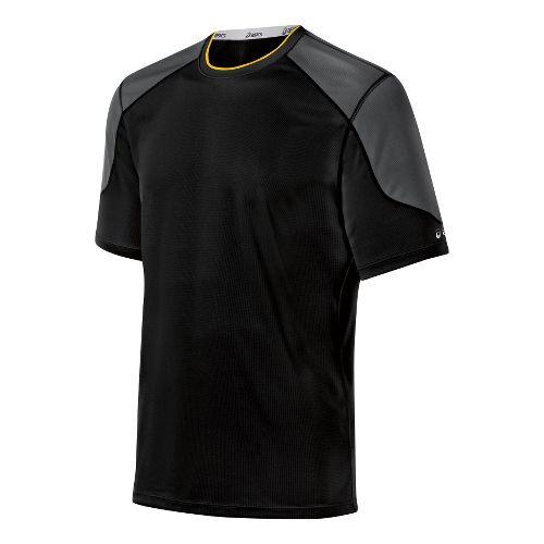 Mens ASICS Ecoline Short Sleeve Technical Tops - Black S