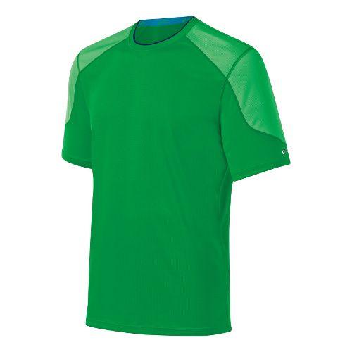 Mens ASICS Ecoline Short Sleeve Technical Tops - Go Green L