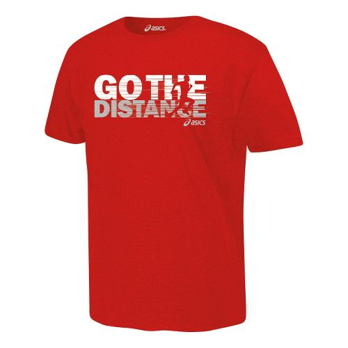 ASICS Go the Distance T Short Sleeve Non-Technical Tops - Red XL