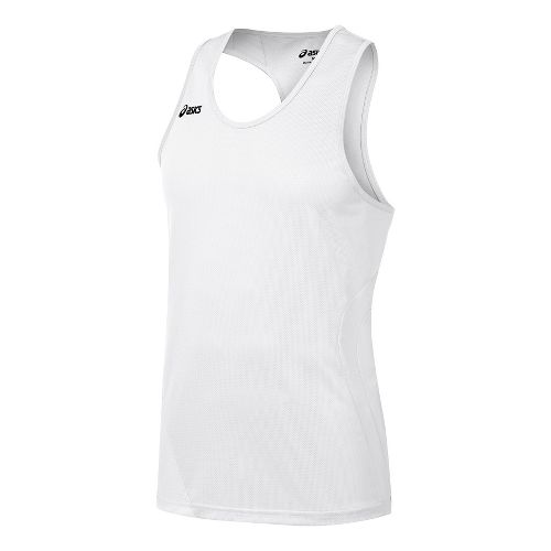 Mens ASICS Wicked Singlets Technical Tops - White M