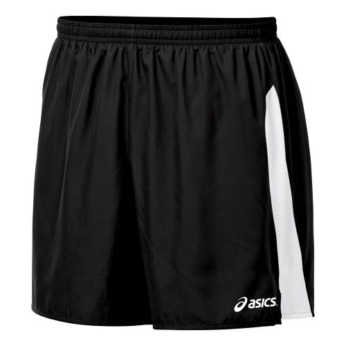 Mens ASICS Wicked Unlined Shorts - Black/White XL