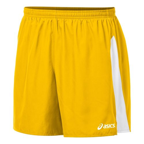 Mens ASICS Wicked Unlined Shorts - Gold/White XXL