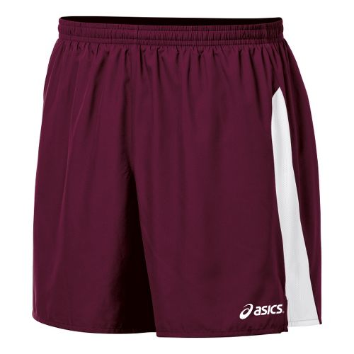 Mens ASICS Wicked Unlined Shorts - Maroon/White L