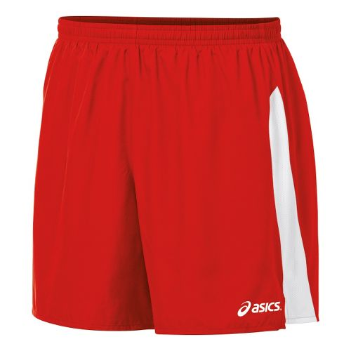 Mens ASICS Wicked Unlined Shorts - Red/White M