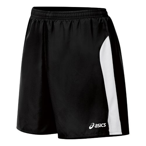 Womens ASICS Wicked Lined Shorts - Black/White XL
