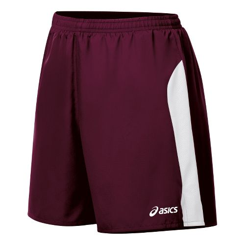 Womens ASICS Wicked Lined Shorts - Maroon/White M