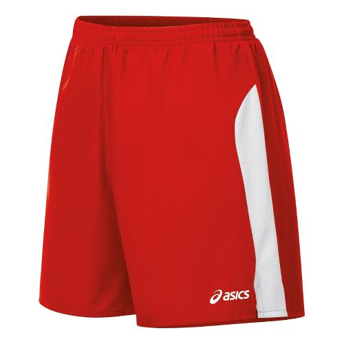 Womens ASICS Wicked Lined Shorts - Red/White S