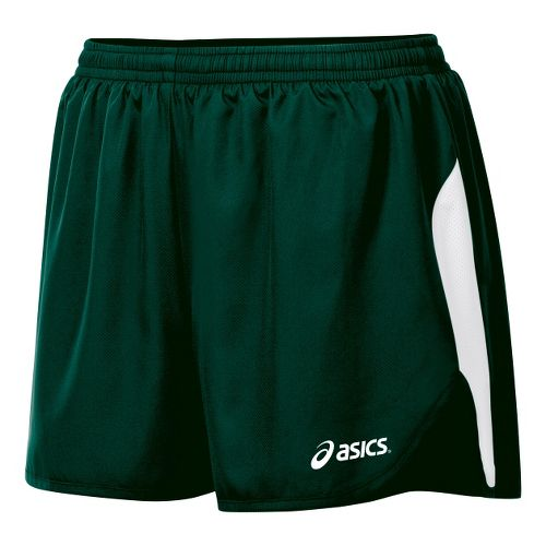 Womens ASICS Wicked 1/2 Splits Shorts - Forest/White L