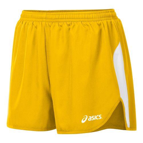 Womens ASICS Wicked 1/2 Splits Shorts - Gold/White L