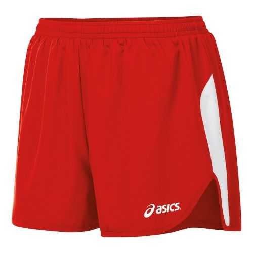 Womens ASICS Wicked 1/2 Splits Shorts - Red/White L