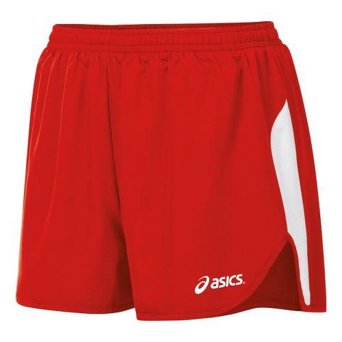 Womens ASICS Wicked 1/2 Splits Shorts - Red/White XL