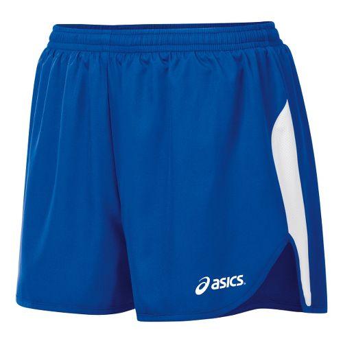 Womens ASICS Wicked 1/2 Splits Shorts - Royal/White XL