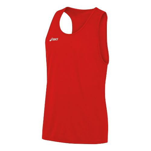 Mens ASICS Rival Singlets Technical Tops - Red L