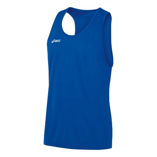 Mens ASICS Rival Singlets Technical Tops - Royal M