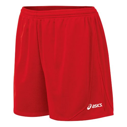 Womens ASICS Rival Lined Shorts - Red XL