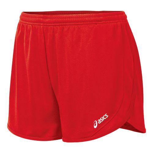 Womens ASICS Rival 1/2 Splits Shorts - Red XS