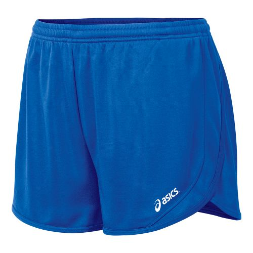 Womens ASICS Rival 1/2 Splits Shorts - Royal XS