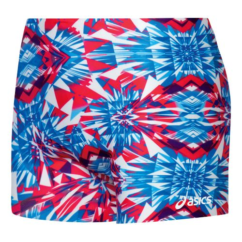 Womens ASICS Crystals Fitted Shorts - Royal/White S