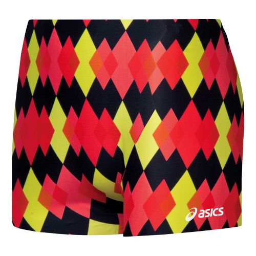 Womens ASICS Pink Diamonds Fitted Shorts - Black/Red L