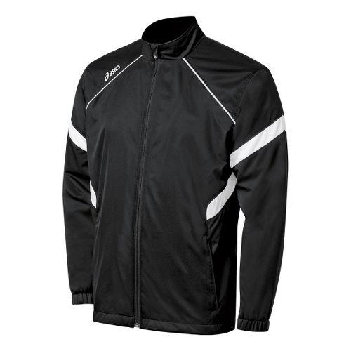 ASICS Boys Jr. Surge Warm-Up Running Jackets - Black/White L