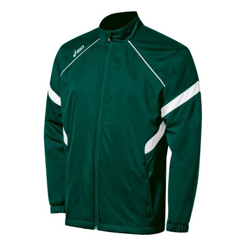 Kids ASICS Jr. Surge Warm-Up Running Jackets - Forest/White L