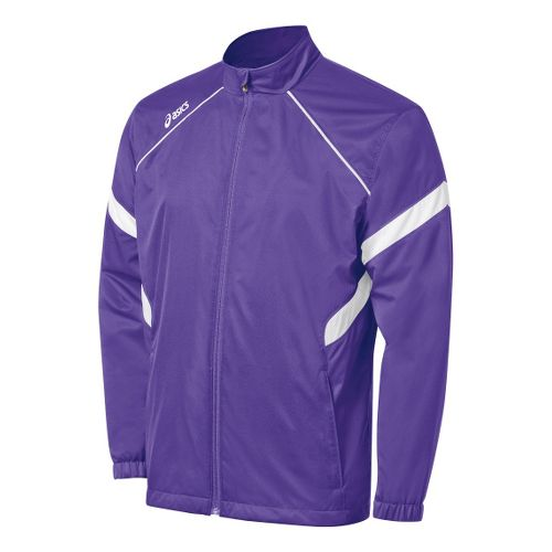 Kids ASICS Jr. Surge Warm-Up Running Jackets - Purple/White M
