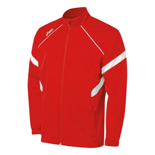 Kids ASICS Jr. Surge Warm-Up Running Jackets - Red/White S