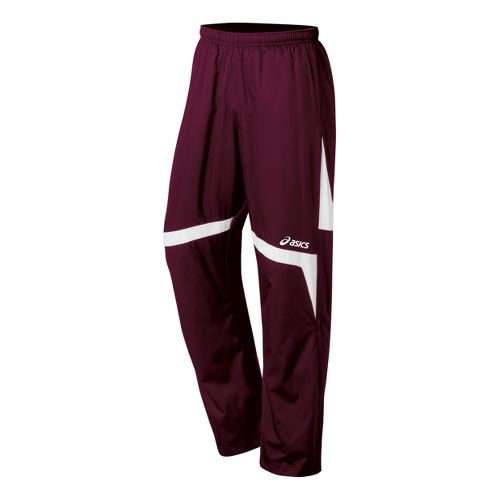 Kids ASICS Jr. Surge Warm-Up Pants - Maroon/White L