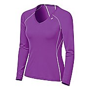 Womens ASICS Lite-Show Favorite Long Sleeve Long Sleeve No Zip Technical Tops