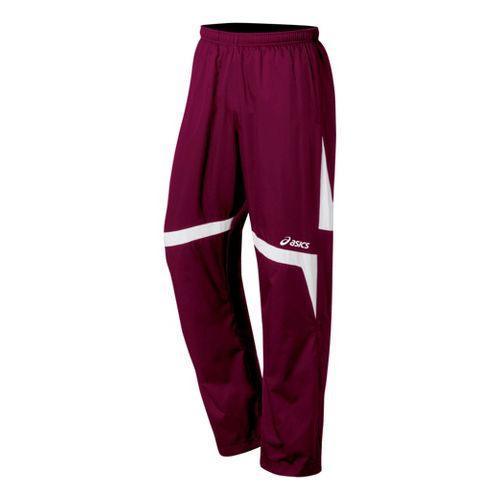 ASICS Surge Warm-Up Full Length Pants - Cardinals/White M