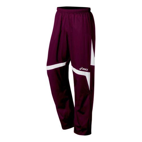 ASICS Surge Warm-Up Full Length Pants - Maroon/White XS