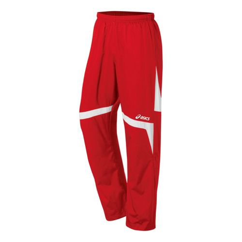 ASICS Surge Warm-Up Full Length Pants - Red/White S