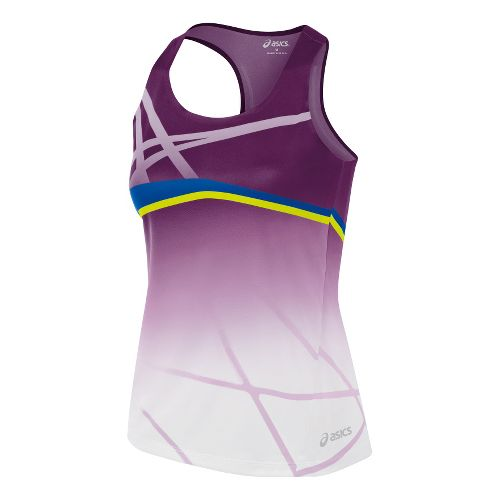Womens ASICS Kayano Singlets Technical Tops - Plum/Blue L