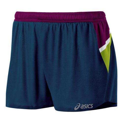 Womens ASICS Kayano Lined Shorts - Blue/Plum XL