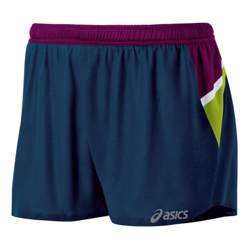 Womens ASICS Kayano Lined Shorts - Blue/Plum XS