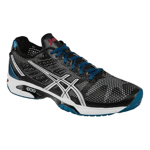 Mens ASICS GEL-Solution Speed 2 Court Shoe - Onyx/Silver 12.5