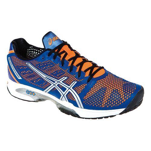 Mens ASICS GEL-Solution Speed 2 Court Shoe - Blue/Flash Orange 14